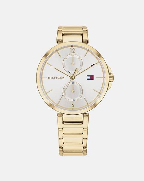 Dámske hodinky s oceľovým remienkom v zlatej farbe Tommy Hilfiger