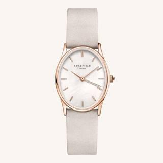 Dámske hodinky so svetlošedým koženým opaskom Rosefield