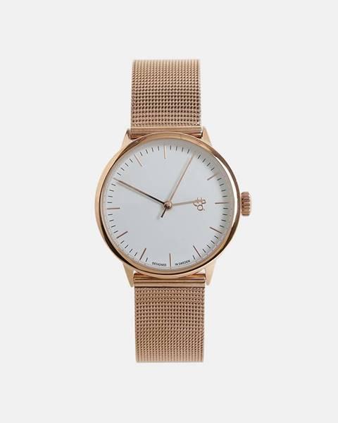 Dámske hodinky s kovovým remienkom v ružovozlatej farbe CHPO Nando Mini Rose