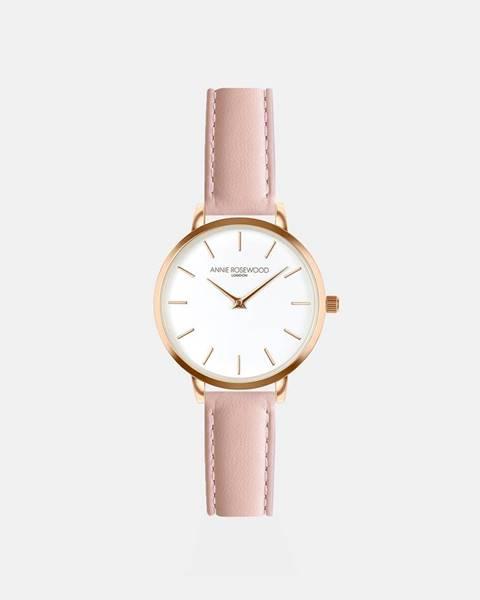 Dámske hodinky s ružovým koženým remienkom Annie Rosewood