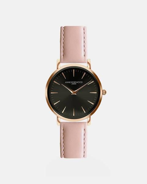 Dámske hodinky s ružovým koženým remienkom Annie Rosewood Primrose