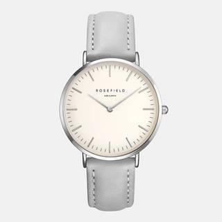 Dámske hodinky s šedým koženým remienkom Rosefield