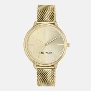 Dámske hodinky s kovovým remienkom v zlatej farbe Nine West